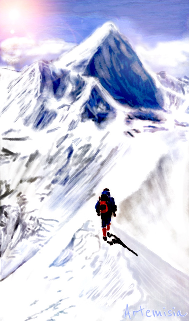 Balance on the way to the top #dcmountains #drawing #art #digitalart   Thank you for your votes!☺ ☺ ☺ ☺ ☺ ☺