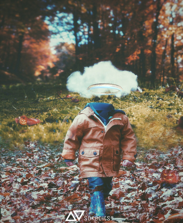 #gdheadless  my entry for gdheadless contest.   hedless little boy walking,Halloween 🌇 #cute #hdr #freetoedit #people #photography  #halloween