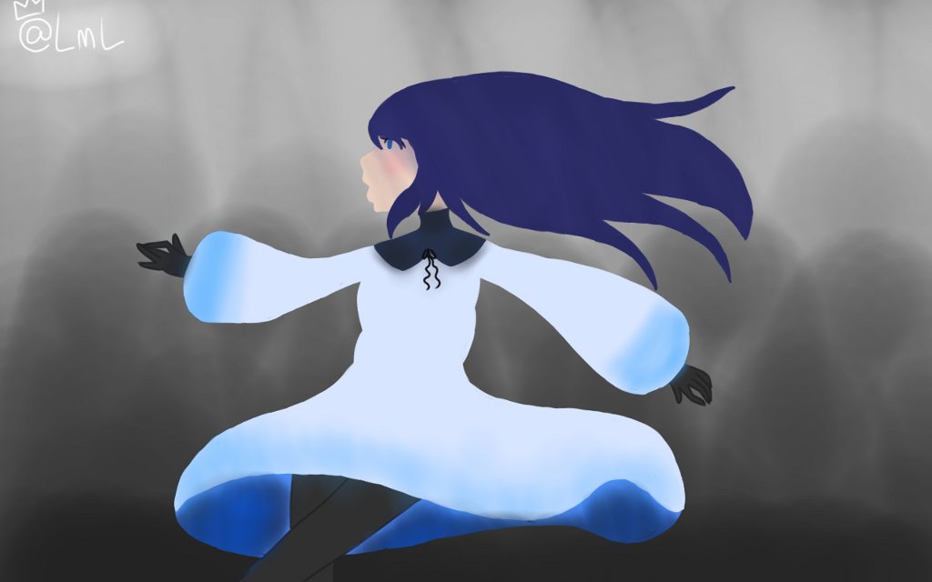 Finished!  Didn't turn out exactly like i want it, but i dont care!  I still like it!  @seriousnonsense SENPAI YOU PROUD?  #drawing #girl #blue #art
