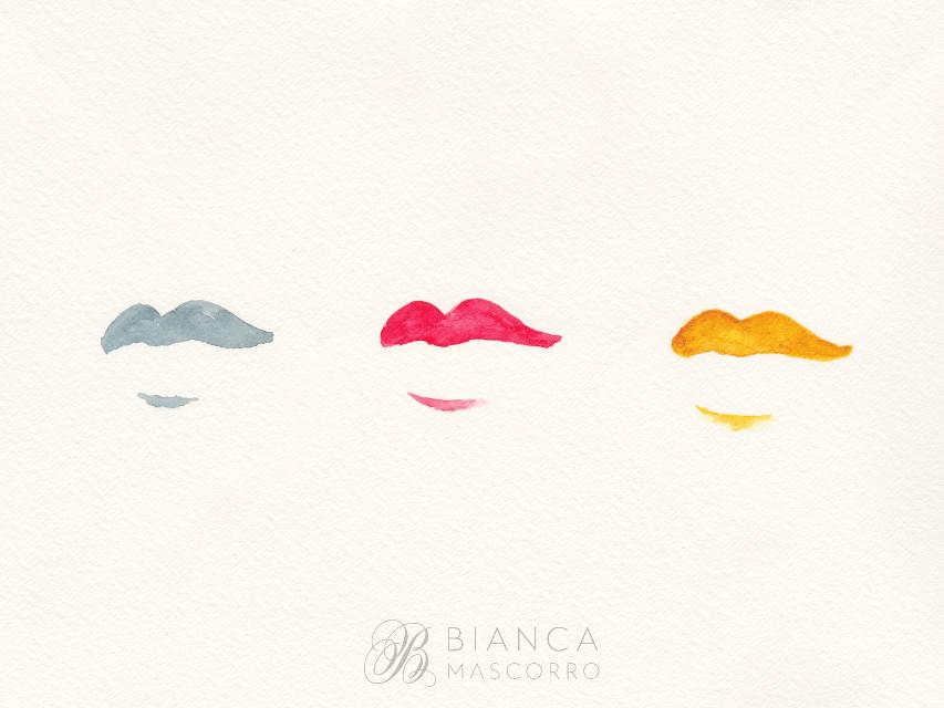 #watercolor #lips