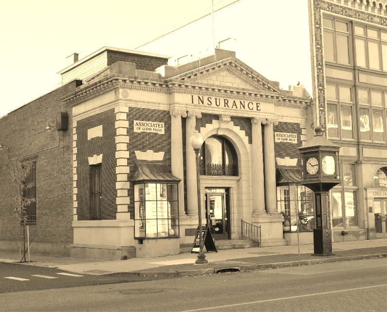 Old insurance building in Glens Falls, NY #sepia #architecture