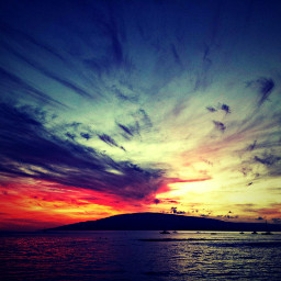 lomoeffect ocean sunset