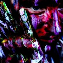 colorful emotions bodyart purple art photography pink Closeup