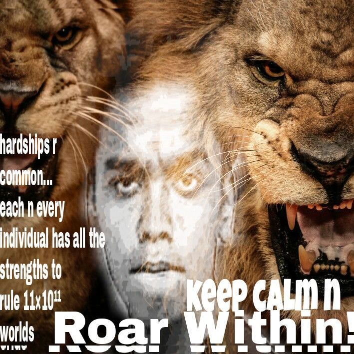 Roar ... Cos ur born to lioness