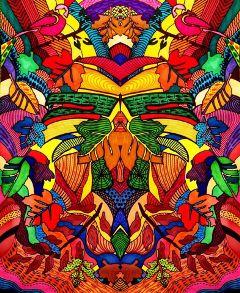 interesting art psychedelicart nature natural