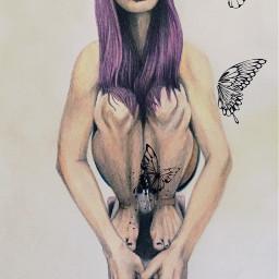 art girly flowerpower longboard purplehair
