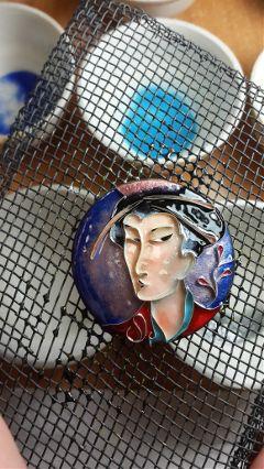 art drawing hotpainting enamel portrait