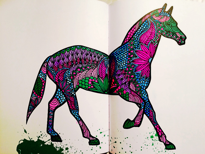 #adultcoloringbook  #horse