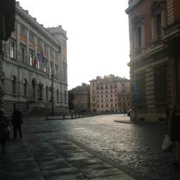 road buildings rome blackandwhite