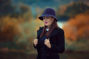 fall autumn colorful portrait