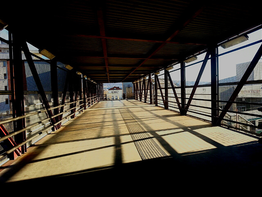 #LeadingLines  #oldphoto #photography #travel #winter #ClodSPhotos #noeffect #noedit #station   #light  #shadow  #Ivrea  #town