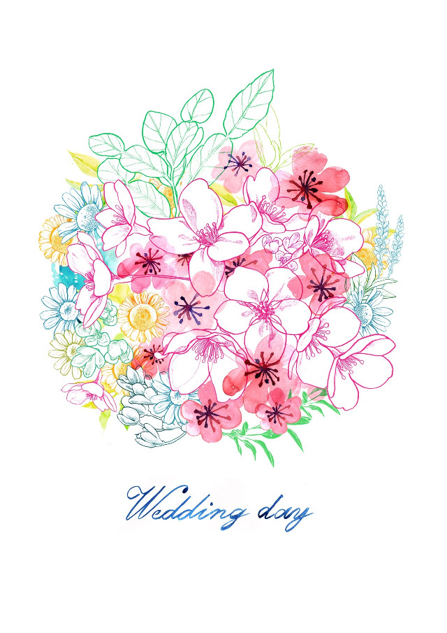 #illustration #illust #fashionillustration #fashionillust #beauty #flower #watercolor #pencil #pencildrawing #draw #drawing #artwork