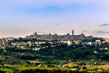 paesaggio panorama cartolina belvedere macerata