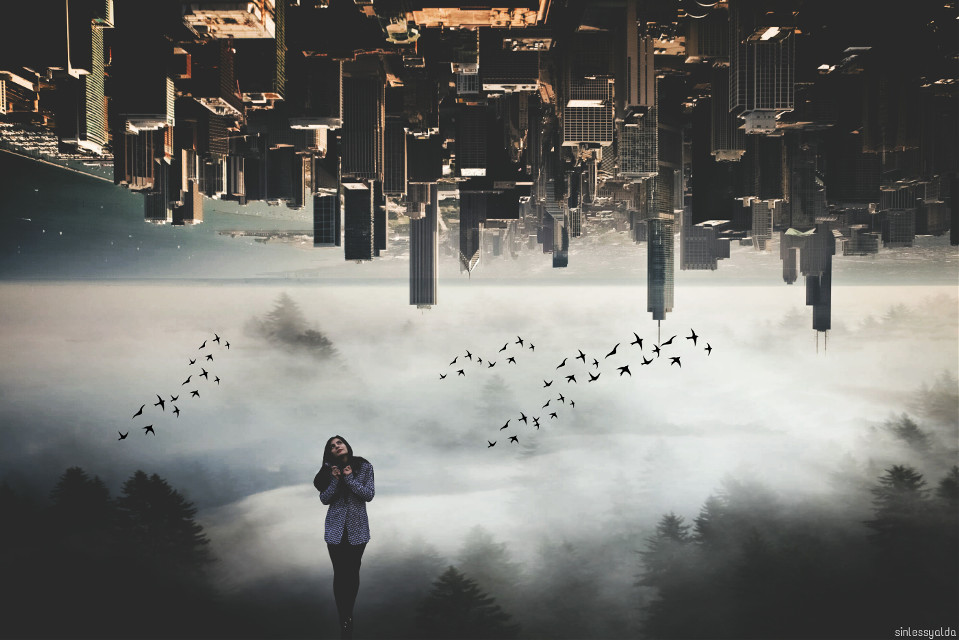 Air pollution and confusion are create all choas in big cities...  @pa thanks alot for choosing my pic as best of inspiration 😍💕🌹👏🎉✨🙌 #chaos #edited  #city #pollution  #clipart  Girl pic by dear @noshuk90