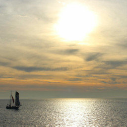 stillness sailing sky clouds travel