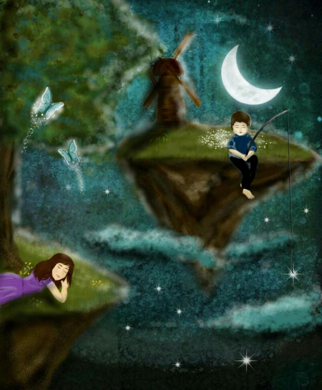 #dreamy #drawing #children #magic #night #dream #imagination