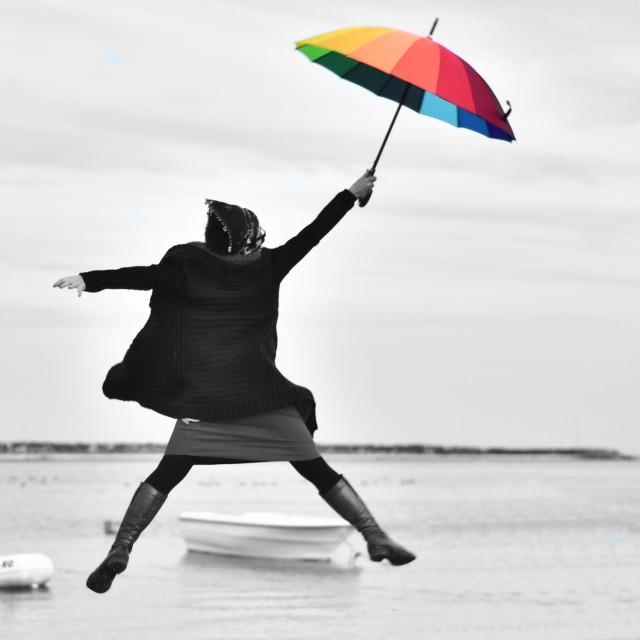 #bw #bnw #portrait #umbrella #colorsplash  #FreeToEdit