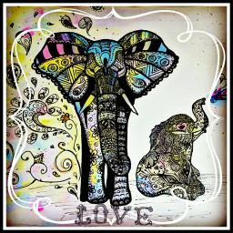 purelove love family elephant baby