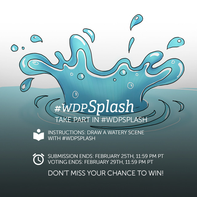 Water, water, everywhere... This week, we want you to make a splash!   Use PicsArt's drawing tools to draw a splash of water. Share your drawings with the hashtag #wdpSplash to participate.