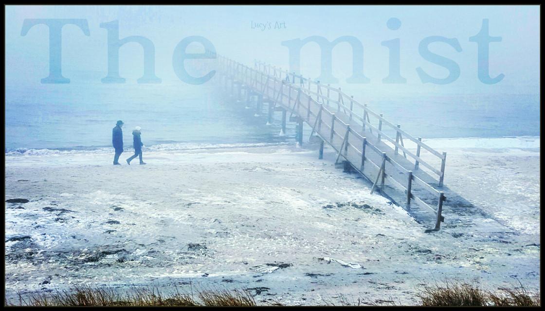 #fog #mist #sea #sealandscape #horisont #bridge #longing #beautyofnature #sandbeach #love #people
