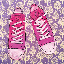 freetoedit pink shoes converse cute