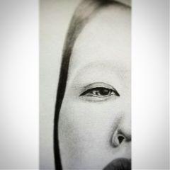 art drawing minimalist eye process