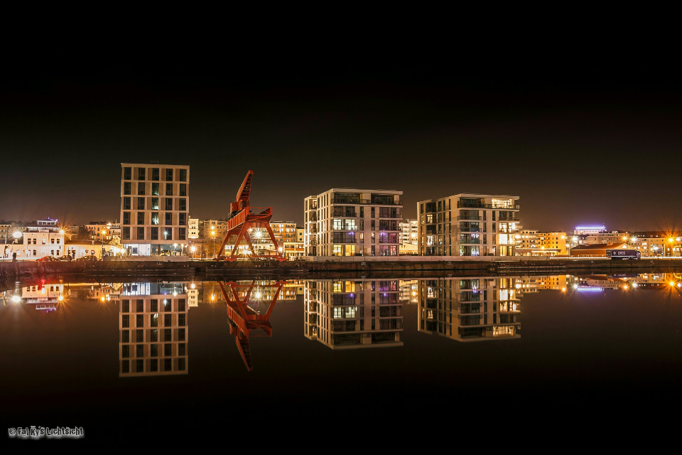 Bremerhaven at Night  #emotions #photography #colorful #travel  #night