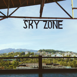 sky green city rooftop hills