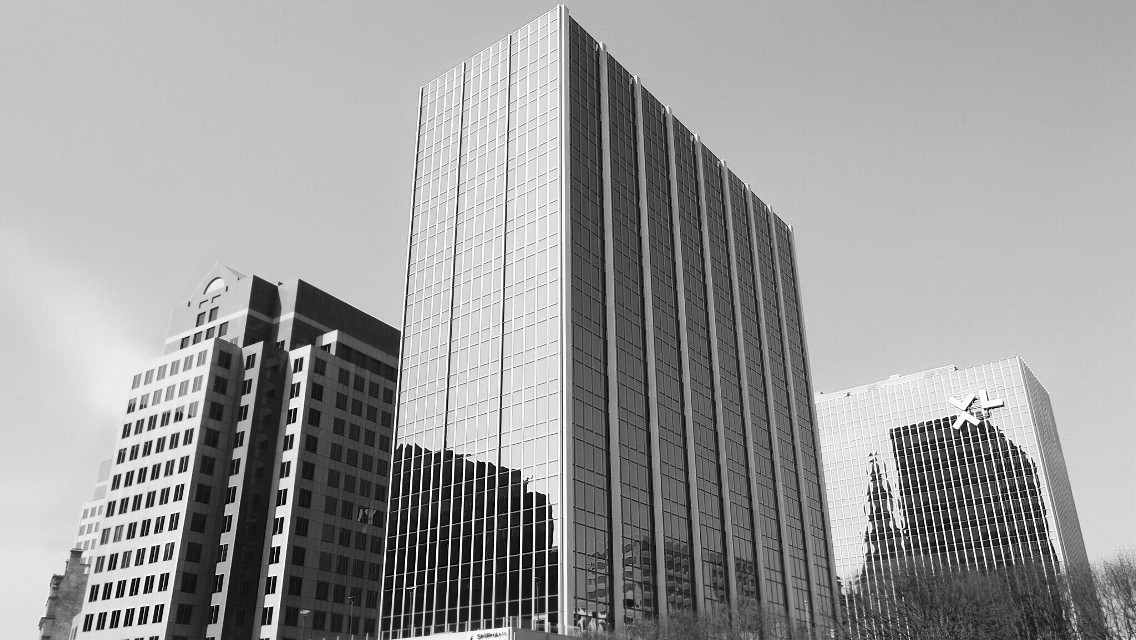 #downtown #hartfordct #black&white #city #buildings #photography