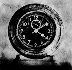 clock blackandwhite