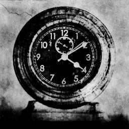 clock blackandwhite freetoedit