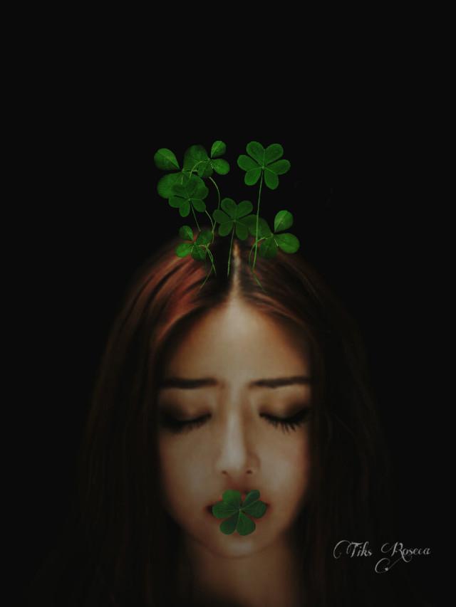 #StPatricksDay #sister #art  #green #edited #photography #nature