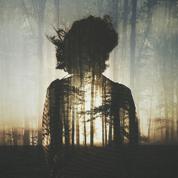 doubleexposure surreal portrait