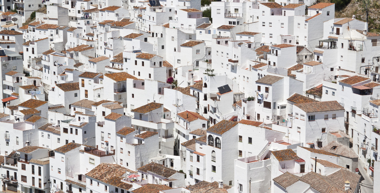 Courtesy of Unsplash (Public Domain) ~ #FreeToEDit #city #roof #roofs #houses #white #texture