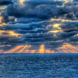 sunrise thesun theclouds thesea love