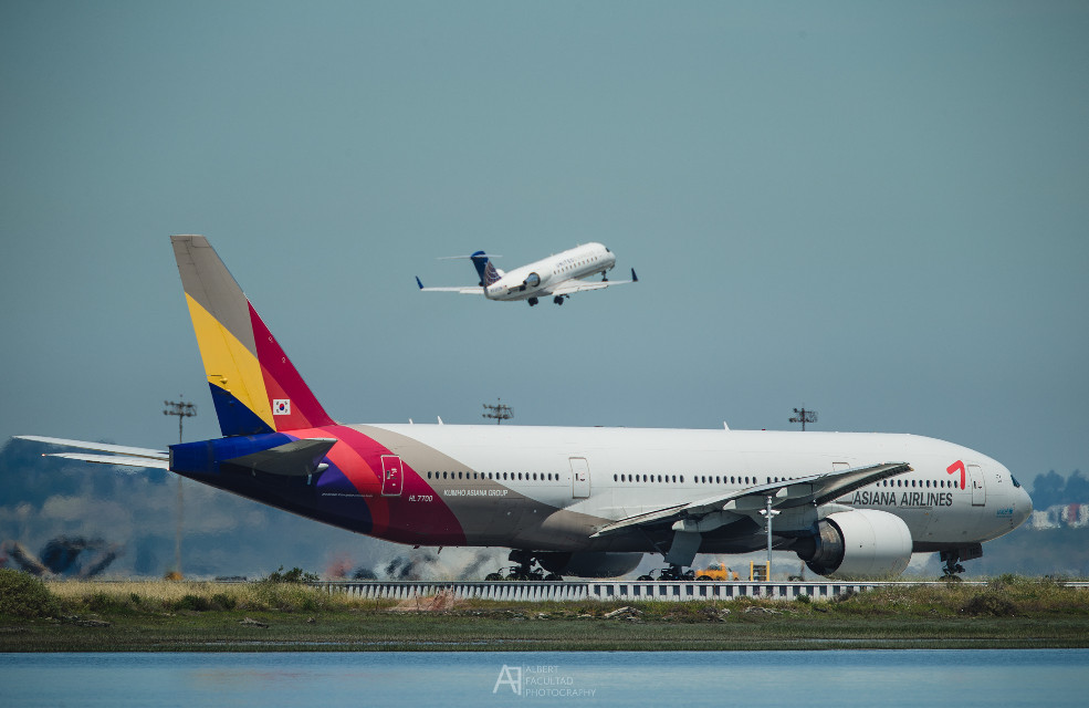 Asiana Boeing 777-200 Extended Range #boeing #777 #sfo #planespotting #aircraft #airline #asiana