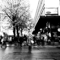 blackandwhite motion urban city people
