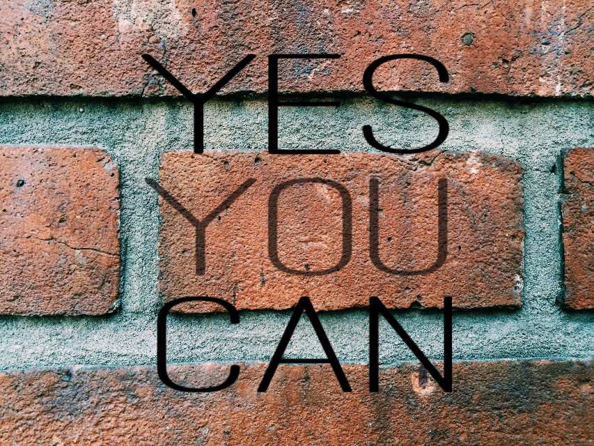 #yesyoucan #bricks #wall #FreeToEdit