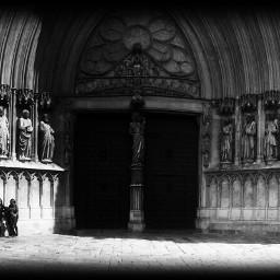 catedral catalonia catalunya tarragona blancoynegro