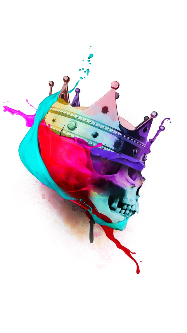 #skull #art #street #paint #splash #flyingpaints #clipart #colorful #colorsplash #crown            #FreeToEdit