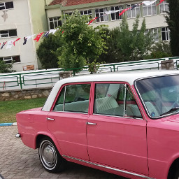 pink car nostalgia